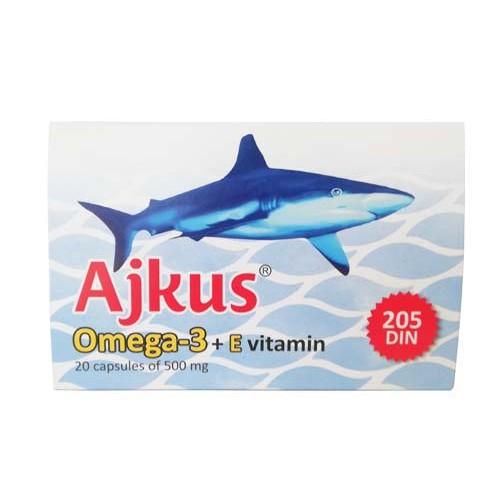 Ajkus omega3 + E vitamin -Priodni preparat za regulaciju holesterola, krvnog pritiska, pomoć deci kod disleksije i dispraksije